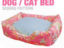 Sewing Pattern - Dog / Cat / Pet Bed - 3 Sizes