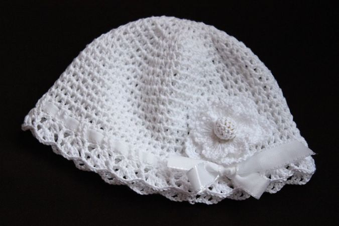 V Stitch Baby Hat Crochet Pattern