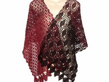 Crochet pattern: Copper Beech Leaves, Scarf, rectangular shawl, wrap