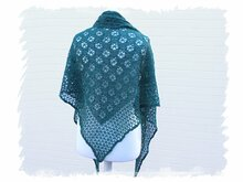 "Crochet pattern ""Flying Wheels Shawl, triangular shawl, wrap"