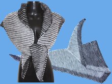 "Knitting pattern ""Two-Color-Play Filou"", shawl, wrap,"