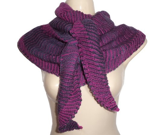 Knitting Pattern Two Color Play Filou Shawl Wrap