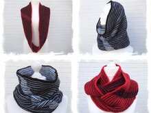 "Knitting pattern ""Two-Color-Play Cowl + Loop"", hood"