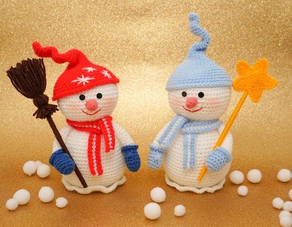 Amigurumi Snowman : Pattern snowman christmas amigurumi