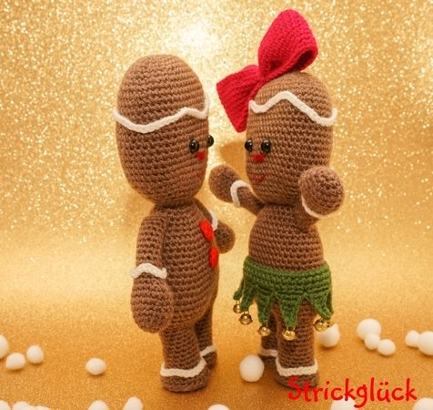 Crochet Pattern Christmas Gingerbread man Amigurumi 26 pages