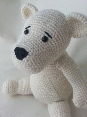 Eisbär Häkeln Weiß Wollig Wunderbar