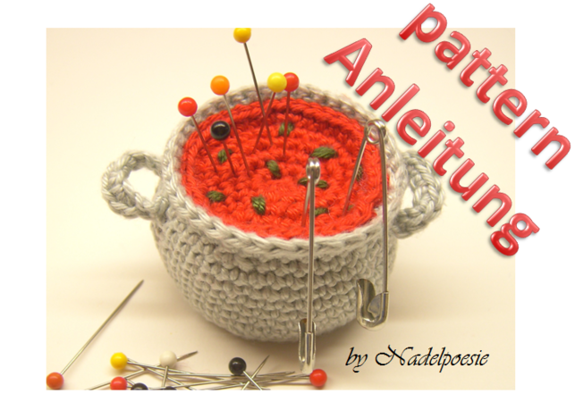 Soup pott pin cushion