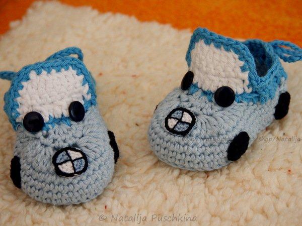 Amigurumi Patterns Cars : Pattern baby booties 'bwm cars'