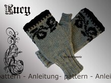 Lucy fingerless mitts mittens gloves