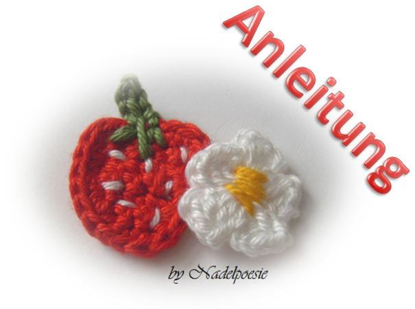 pattern applique Strawberry and flower