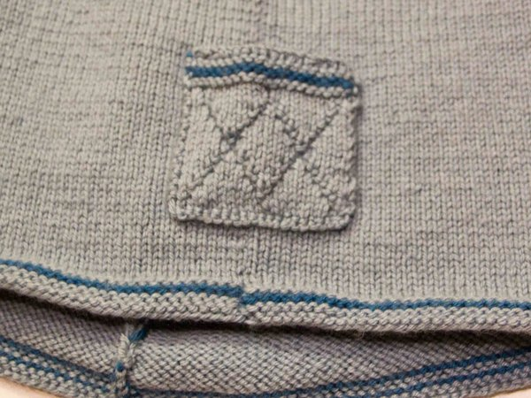 Sail Away pattern guernsey pullover for boys