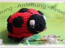 FELIX, the ladybug, pattern amigurumi pincushion