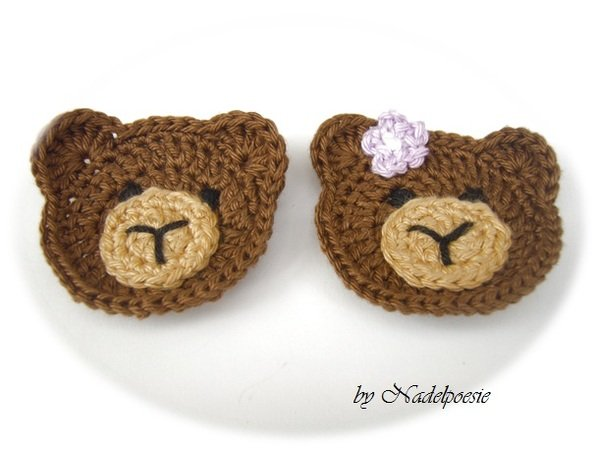 Bear applique pattern for boy or girl