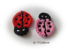applique lady bug pattern