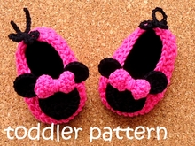 Miss Bow Mouse Crochet Shoes Toddler Pattern