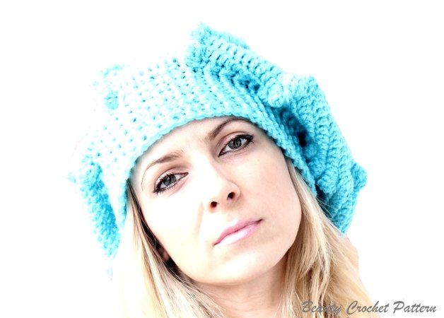 Crochet Slouchy Bubble Beret