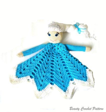 Crochet Lovey Pattern Elsa Frozen
