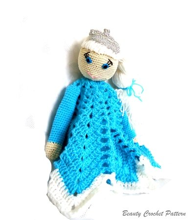 Ice Gown Elsa Frozen Amigurumi pattern crochet dolls Disney by ... | 450x393