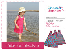 FLORAs dress / tunic top pattern, sizes 110-152 / 5 – 12 yrs.