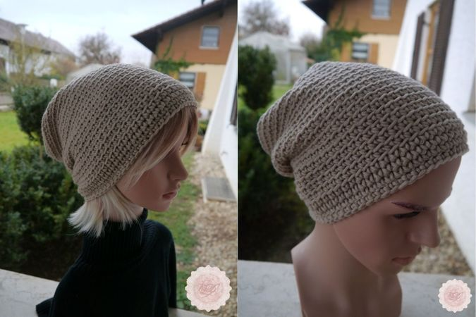Crochet pattern - Easily - Slouchy Beanie Hat - Unisex