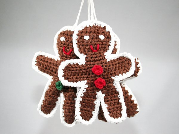Gingerbread Man Ornament Crochet Pattern