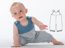 BOBBY Babypants pattern, dungaree pattern, boy jumper, jumpsuit, trousers, romper, longies, boy, girl, Ebook PDF Pattern