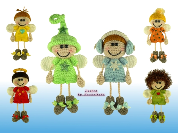 Guardian angels boys -- crochet pattern by Haekelkeks -- english version