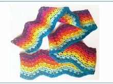 "Scarf ""Colorful"" - Crochet Pattern"