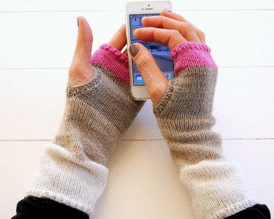 Stulpen stricken / fingerlose Handschuhe