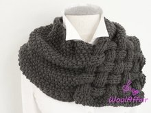 "Knitting pattern weave style scarf ""chunky"" shawl loop 111 beginners newbies knit"