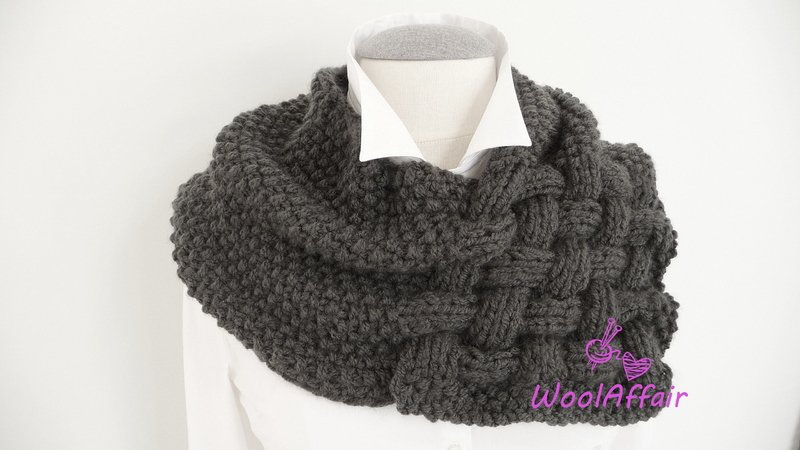 "Knitting Pattern - Weave Style Scarf ""CHUNKY"" - Loop for Newbies - No.111E"