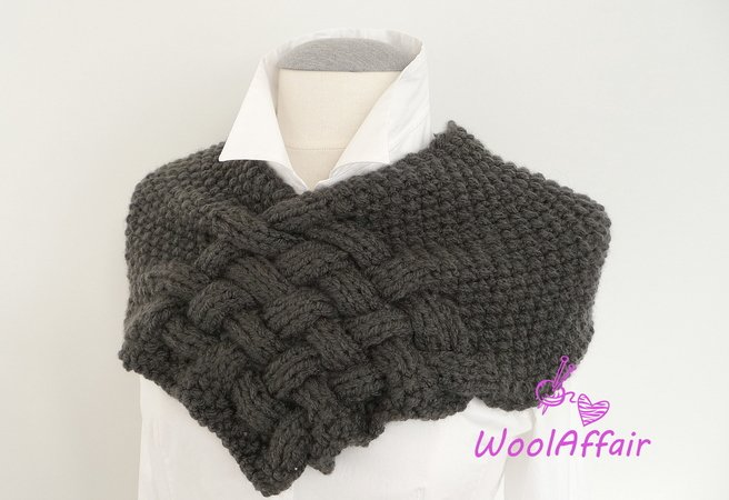 Chunky Scarf Knitting Pattern For Beginners : pattern for knitting a loop // weave style