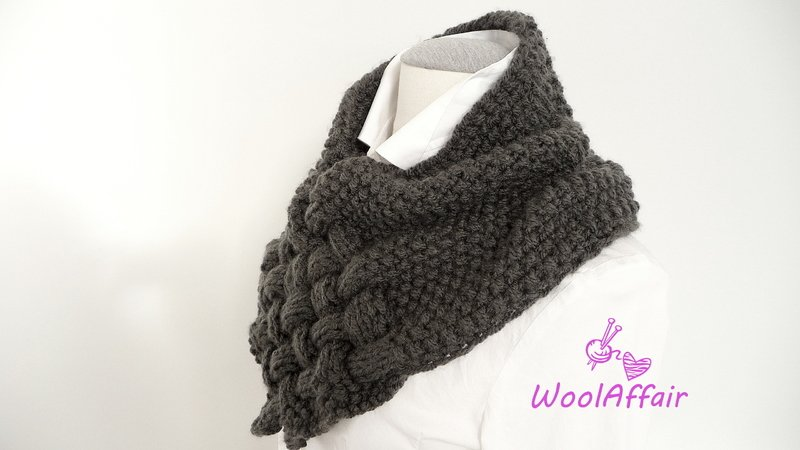 pattern for knitting a loop // weave style