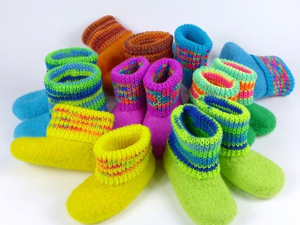 Stiefel stricken und filzen - bis Größe 39