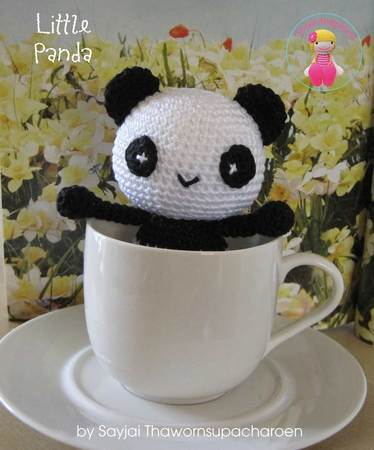 Little Panda Amigurumi Crochet Pattern - Free