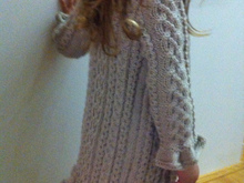 Anael - Romantic Cable Cardigan for small princesses