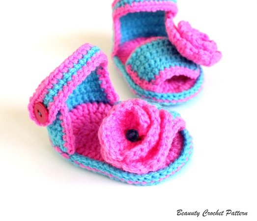 Baby Girl Sandals Crochet Pattern