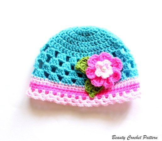 Baby Girl Hat Crochet Pattern Newborn - Child