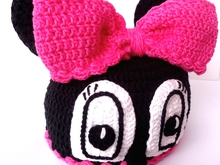 Miss Bow Mouse Crochet Hat Pattern