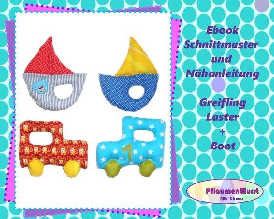 E-Book Greifling Laster und Boot Babyspielzeug Nähanleitung mit ...