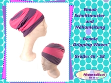 E-Book Beanie Mütze Dripping Waves Gr. 46 bis 58 Wendebeanie