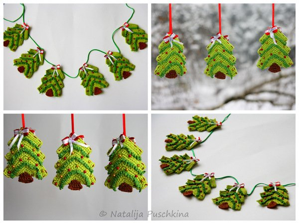 crochet pattern christmas tree ornament tutorial. Black Bedroom Furniture Sets. Home Design Ideas