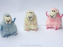 Crochet Pattern for key cap sheep, Key chain sheep, Key cover Sheep