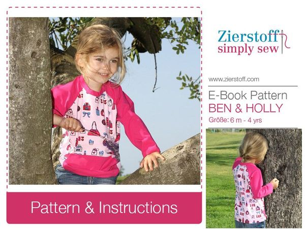 Ben & HOLLYs shirt / long and short sleeve pattern, sizes 62-104 / 6 mo. – 4/5 yrs.