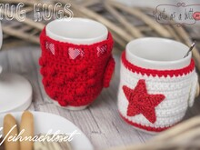 Cute as a button Mug Hug Weihnachtsset Häkelanleitung