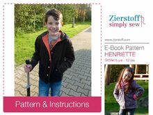 HENRYs & HENRIETTEs reversible jacket pattern, sizes 110-152 / 5-12 yrs.