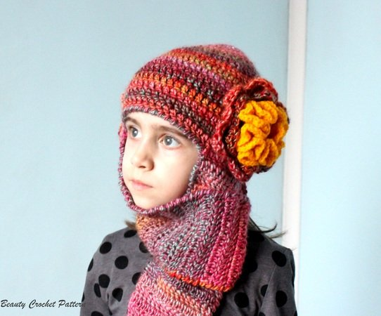 Crochet Earflap Hat Pattern Toddler Adult