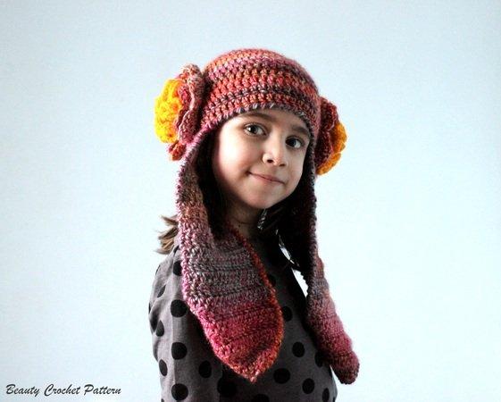 Crochet Earflap Hat Pattern Toddler Adult
