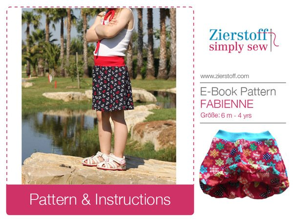 FABIENNEs balloon skirt pattern, sizes 62-104 / 6 mo. – 4/5 yrs.