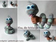 Crochet pattern Elsa the cute snake